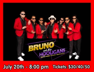BRUNO AND THE HOOLIGANS - BRUNO MARS TRIBUTE 7/20