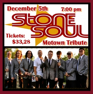 STONE SOUL - A TRIBUTE TO MOTOWN 12/5 7:00 pm